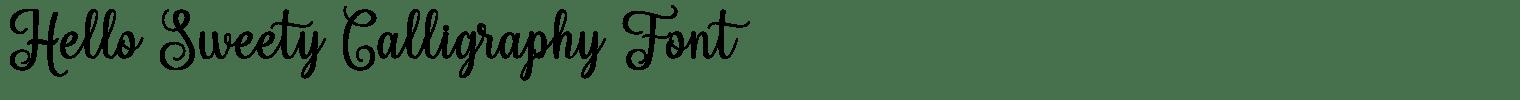 Hello Sweety Calligraphy Font