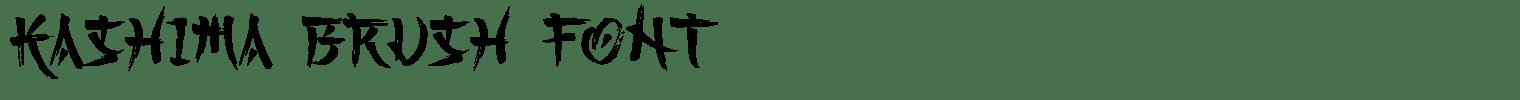 Kashima Brush Font