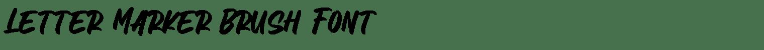Letter Marker Brush Font
