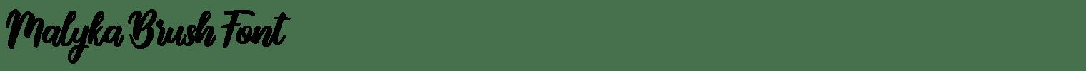 Malyka Brush Font