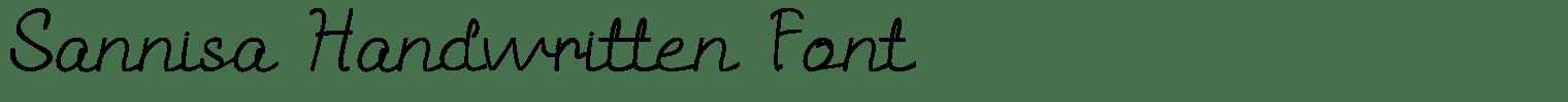 Sannisa Handwritten Font