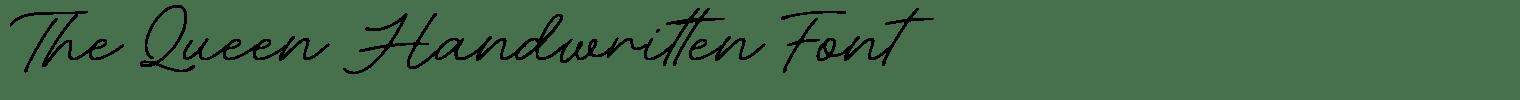 The Queen Handwritten Font