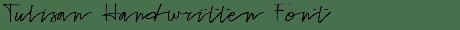 Tulisan Handwritten Font