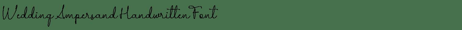 Wedding Ampersand Handwritten Font