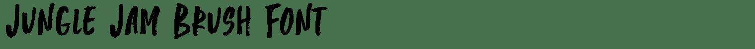 Jungle Jam Brush Font