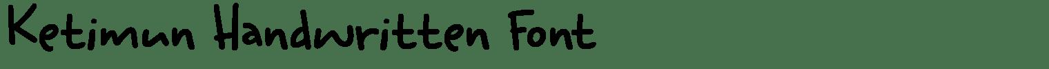 Ketimun Handwritten Font