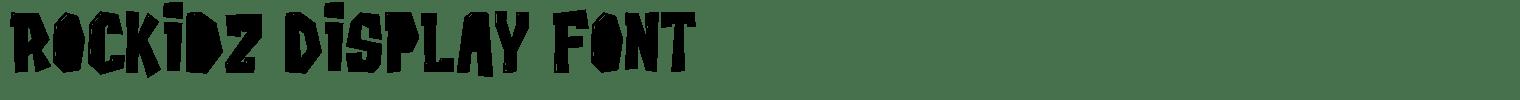 Rockidz Display Font