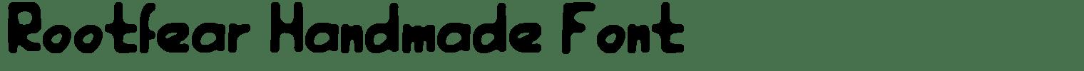 Rootfear Handmade Font