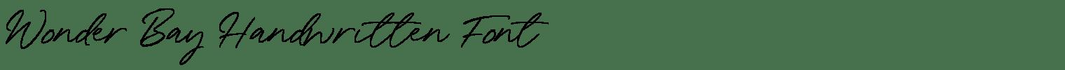 Wonder Bay Handwritten Font