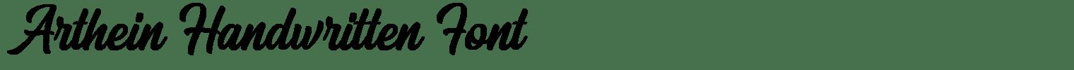Arthein Handwritten Font