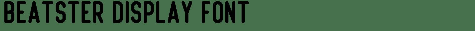 Beatster Display Font