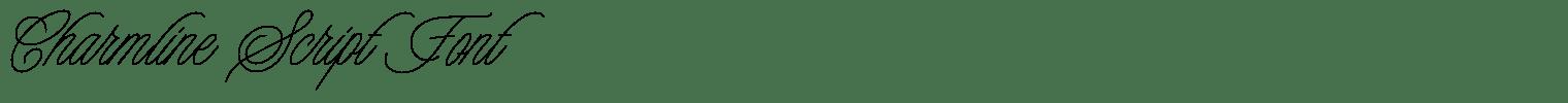 Charmline Script Font