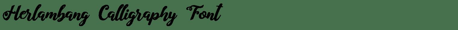 Herlambang Calligraphy Font