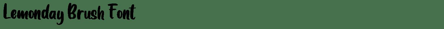 Lemonday Brush Font