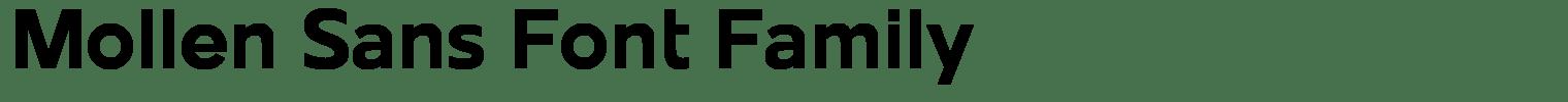 Mollen Sans Font Family