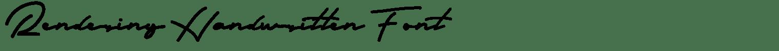 Rendering Handwritten Font