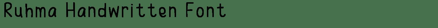 Ruhma Handwritten Font