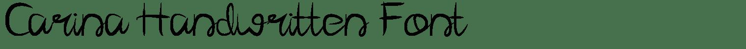 Carina Handwritten Font