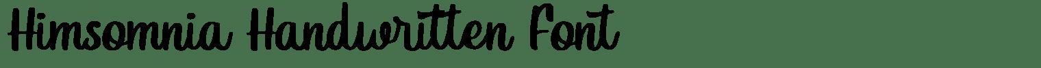 Himsomnia Handwritten Font