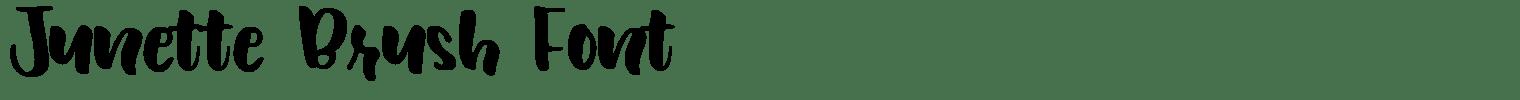 Junette Brush Font