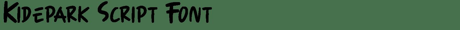 Kidepark Script Font