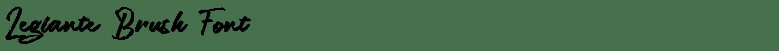 Legiante Brush Font