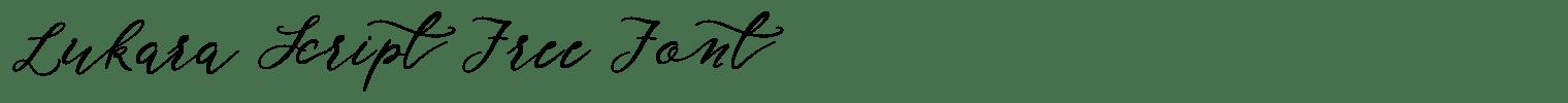 Lukara Script Free Font