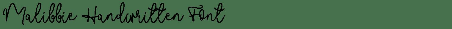 Malibbie Handwritten Font