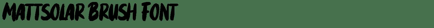 Mattsolar Brush Font
