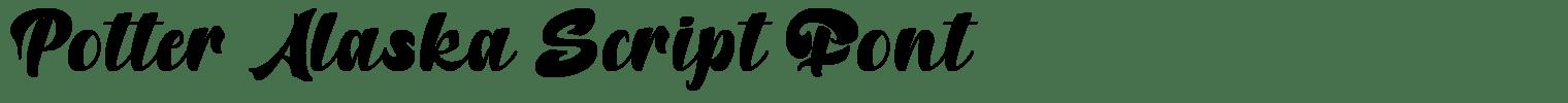 Potter Alaska Script Font