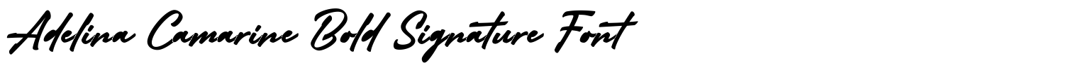 Adelina Camarine Bold Signature Font