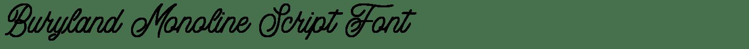 Buryland Monoline Script Font