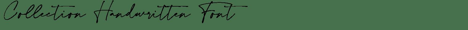 Collection Handwritten Font