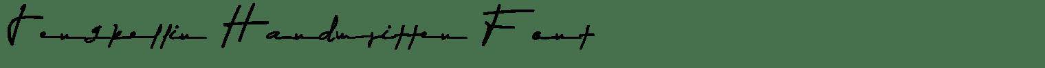 Jengkellin Handwritten Font