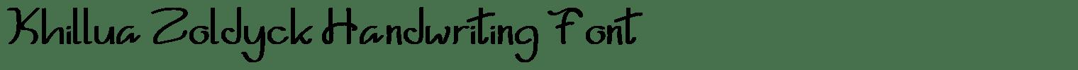 Khillua Zoldyck Handwriting Font