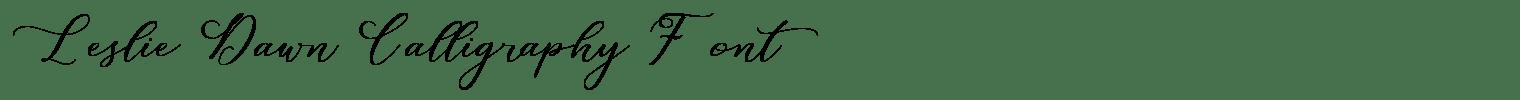 Leslie Dawn Calligraphy Font