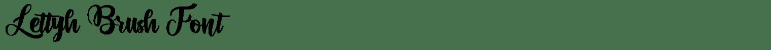 Lettyh Brush Font