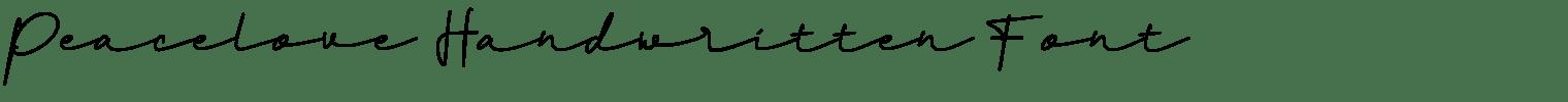 Peacelove Handwritten Font