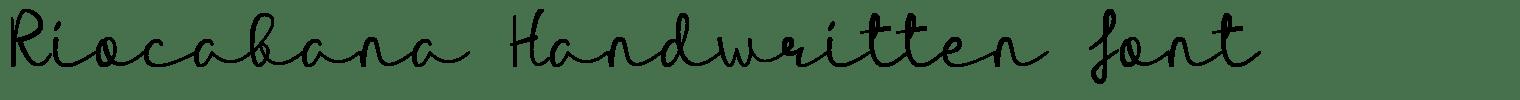 Riocabana Handwritten Font