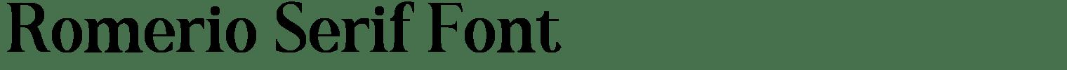 Romerio Serif Font