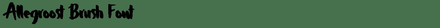 Allegroost Brush Font