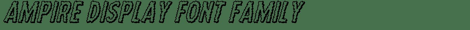 Ampire Display Font Family