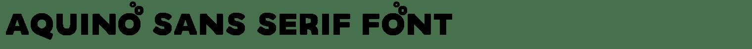 Aquino Sans Serif Font