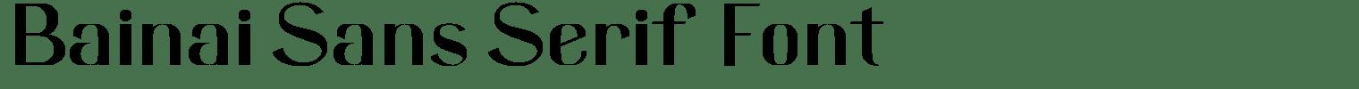 Bainai Sans Serif Font