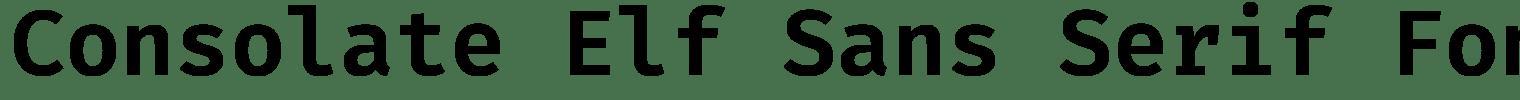 Consolate Elf Sans Serif Font