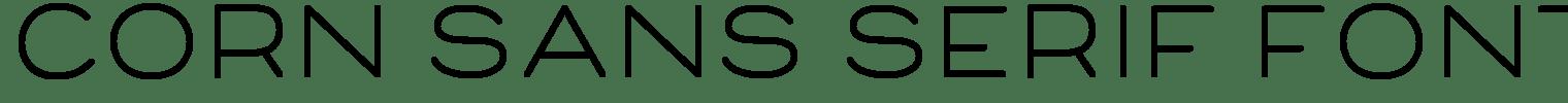 Corn Sans Serif Font