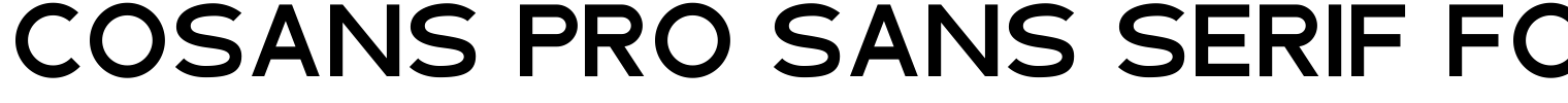 Cosans Pro Sans Serif Font