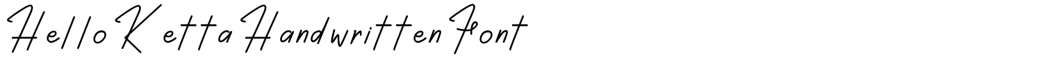 Hello Ketta Handwritten Font