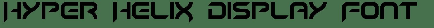 Hyper HeliX Display Font