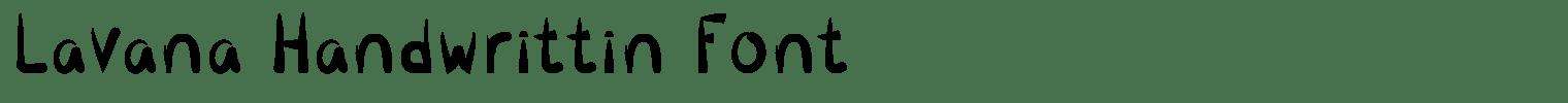 Lavana Handwrittin Font